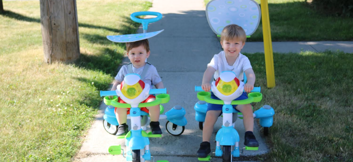 Summer with a hint of Vtech's 4 in 1 Tek Trike