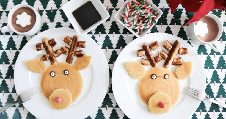 Reindeer Pancakes with Maple Leaf Foods