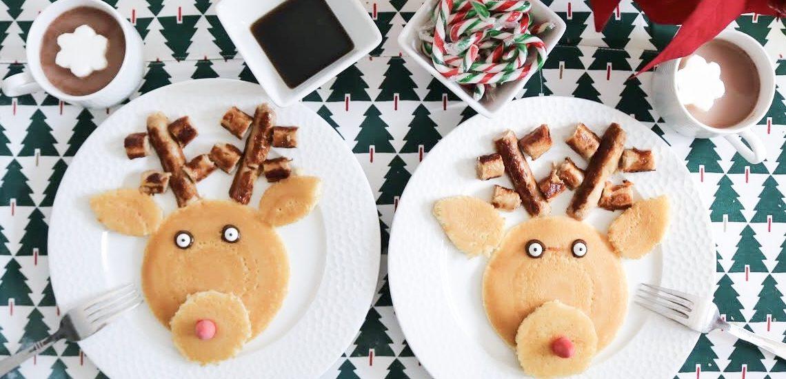 Reindeer Pancakes with Maple Leaf Foods